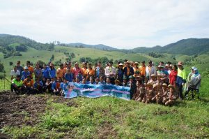 Tree planting on the Mae Tan Temple